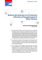 Balance de avances en el comercio informal y propuesta para la mesa técnica