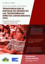 Transversalizar el enfoque de género en las transferencias directas condicionadas (TDC)
